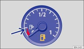 volkswagen golf owners manual indicator lamps and fuel gauge rh vwgolf org Presure Gauge Manual Gauge Panel